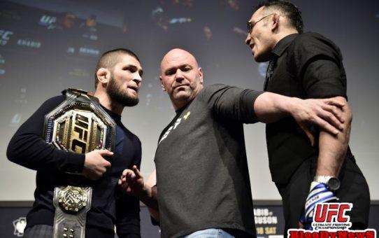 สงครามน้ำลาย ในงานแถลงข่าวศึก UFC 249 สุดสัปดาห์ที่ผ่านมา