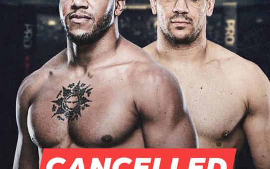 """ศึก UFC Fight Night 180 ระหว่าง """"Gane"""" กับ """"Delija"""" ถูกยกเลิกแล้ว"""