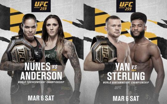 ประกาศคู่มวยชิงแชมป์ในศึก UFC 259 วันที่ 7 มี.ค. 64 นี้